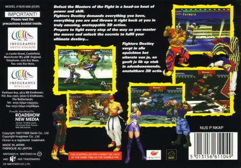Back To 1999 By Desty Permata Sari fighters destiny 1998 nintendo 64 box cover mobygames