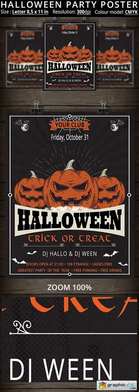 flyer template rar halloween party flyer 410417 rar download