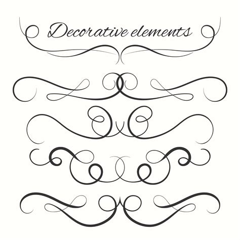 decorative drawing borders decorative lines free vector art 34559 free downloads