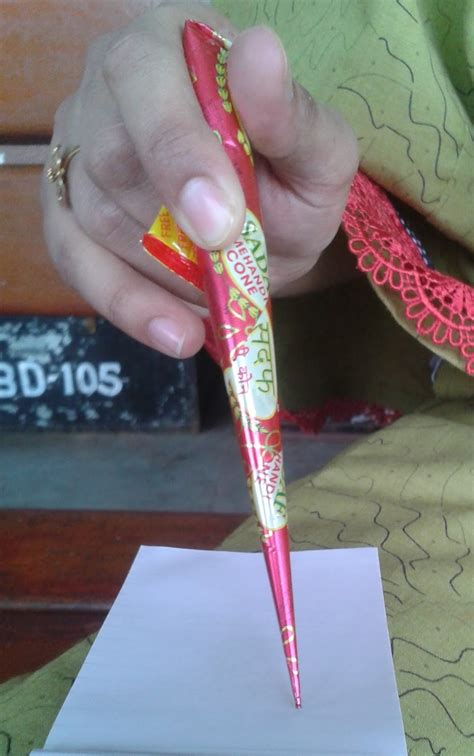 How To Make Cone More Comfortable by Get Started With Mehndi Starting To Use A Cone
