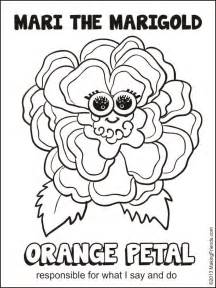 Mari Petal Colouring Pages sketch template