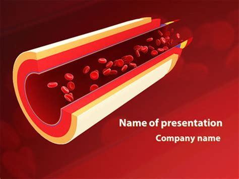 blood vessel powerpoint template backgrounds id cholesterol powerpoint template backgrounds 11201