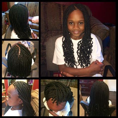 braids with crinkles braids w crinkled ends kids boxbraids pinterest box