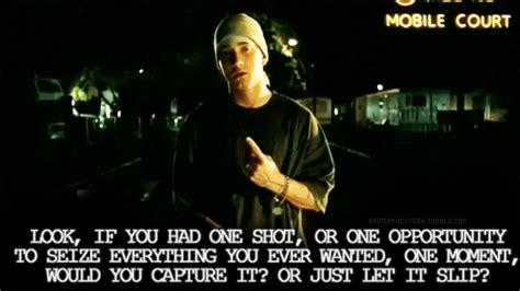 eminem one shot lyrics eminem quotes lose yourself quotesgram