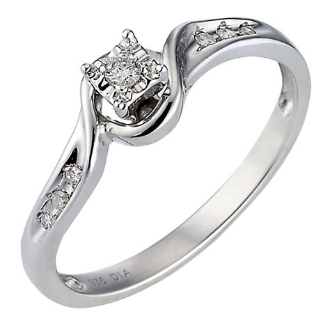 9ct white gold solitaire ring h samuel