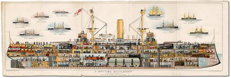 sections of a boat cross section of the battleship hms royal sovereign