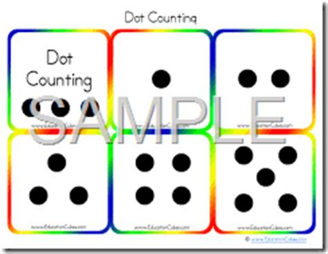 printable dice dot cards education cubes dot counting standard dice