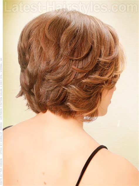 bob layered hairstyles front and back view short haircuts front and back view