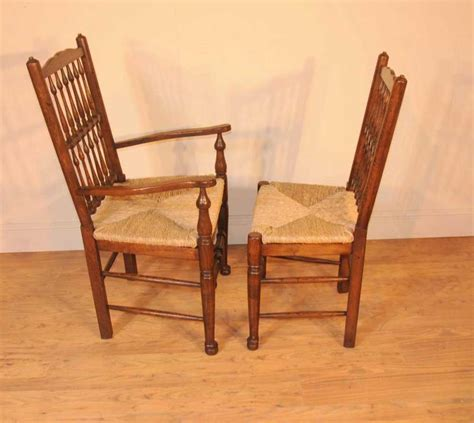 Oak Kitchen Chairs by Oak Kitchen Diner Chair Set Refectory Table And Spindleback Chairs