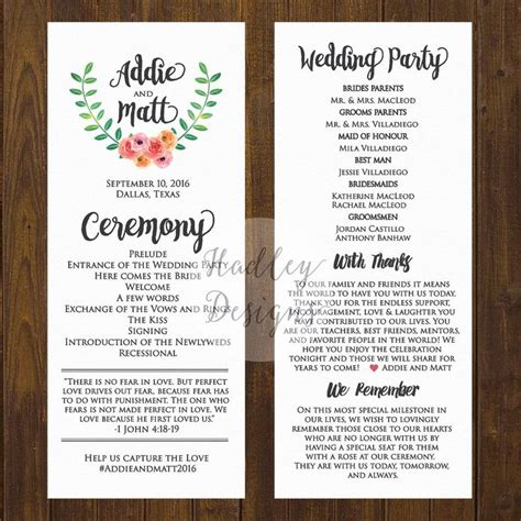 best 25 wedding programs ideas on pinterest ceremony