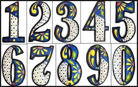 decorative house numbers decorative house numbers metal address sign outdoor home decor hand painted