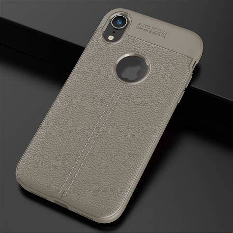 for apple iphone xs max xs xr shockproof rubber slim tpu leather back cover ebay