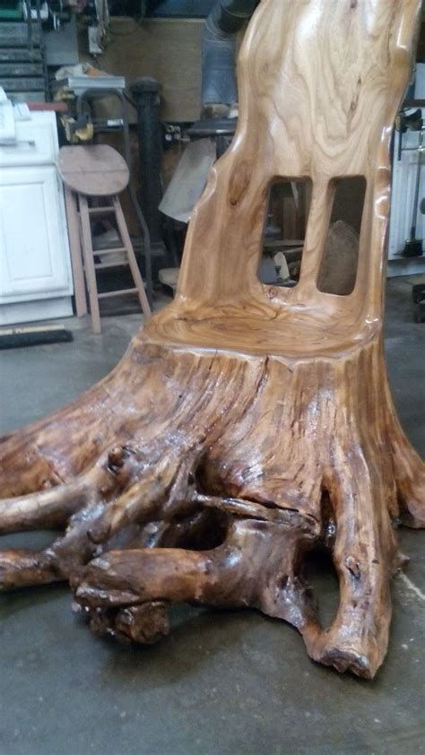 rootball rocking chair   elm tree trunk  roots