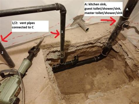 Overall Plumbing by Basement Bathroom In Pipe Routing Pictures Doityourself Community Forums