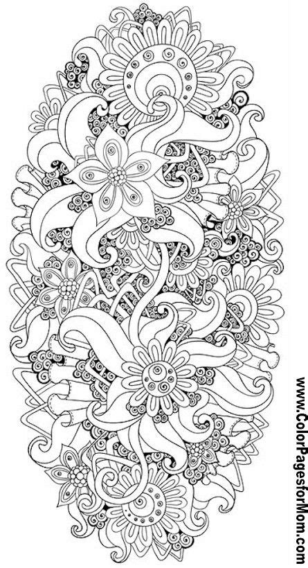zendoodle coloring pages for adults flower abstract doodle zentangle zendoodle paisley