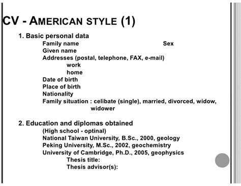 curriculum vitae american style cv writing www chemicallibrary