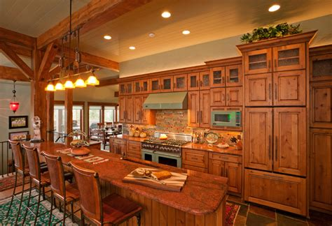 mountain home kitchen design rustic mountain home rustic kitchen by fedewa custom
