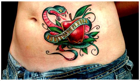 snake and apple tattoo designs 30 popular apple designs