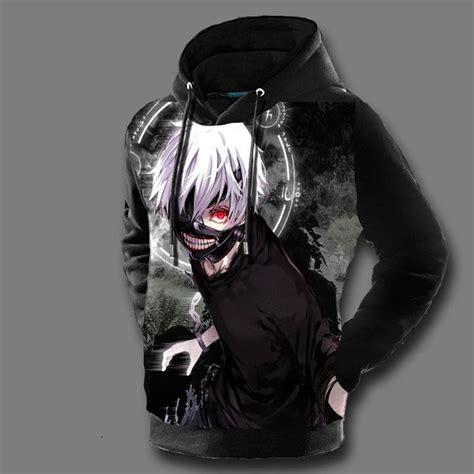 Kaos Anime Karakter Print Kaneki aliexpress buy tokyo ghoul hoodies mens 3d print hooded pullovers ken kaneki anime