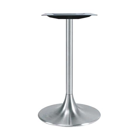 table bases ikea meier 20 quot trumpet table base brushed aluminum