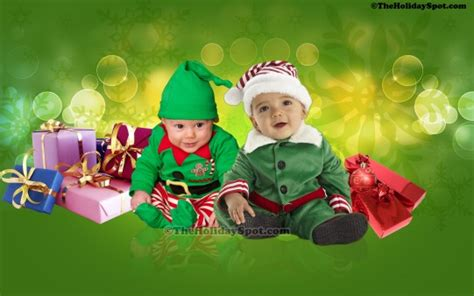 christmas wallpaper elves baby elves wallpapers from theholidayspot