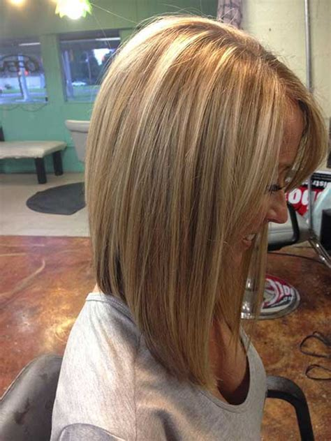 Would An Inverted Bob Haircut Work For With Thin Hair | inverted wavy lob hairstylegalleries com