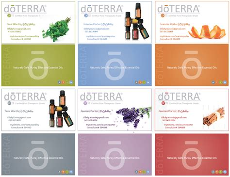 The Image Foundry Doterra Business Cards Doterra Website Template