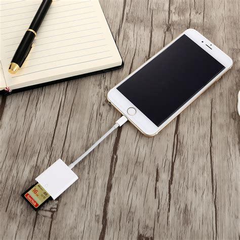 Kabel Otg Iphone 5 otg sd kartenleser digitalkamera leser adapter kabel f 252 r iphone 5 6 7 wei 223 ebay