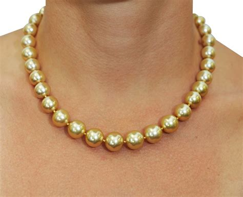10 13mm ultimate golden south sea pearl necklace