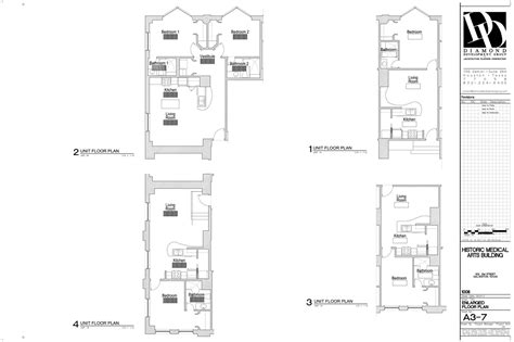 residential floor plan historic medical arts building residential floorplans luxamcc