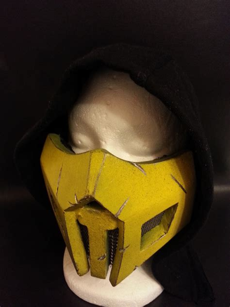 scorpion mortal kombat mask metal vents  battle