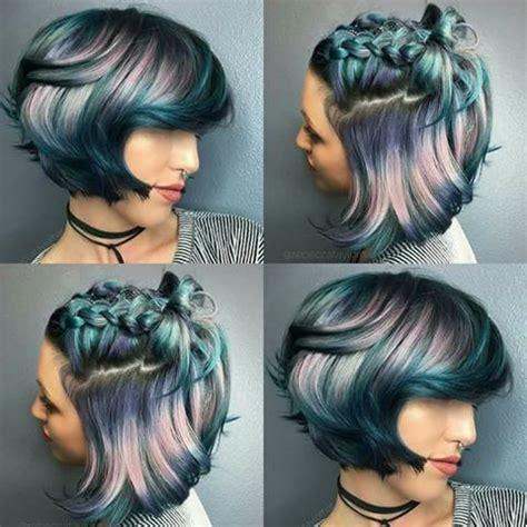 colorful short hair styles 239 best short hair vivid color images on pinterest