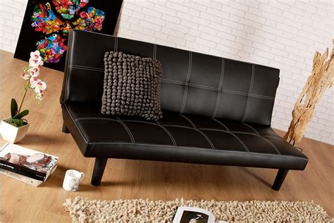 Black Leather Couches For Cheap by Single Faux Leather Sofa Bed In Black Spencer Sofabed