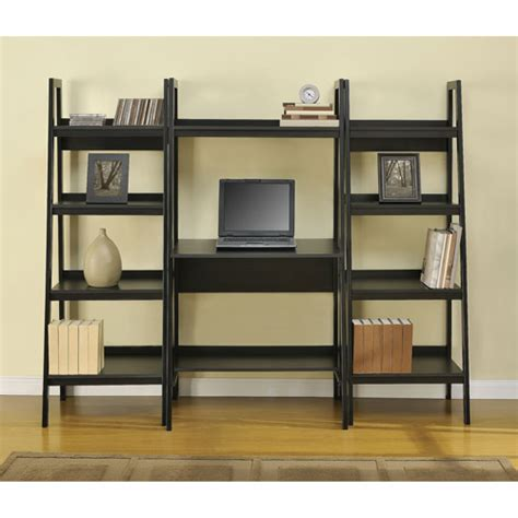 ladder bookcase with desk ladder shelf desk plans furnitureplans