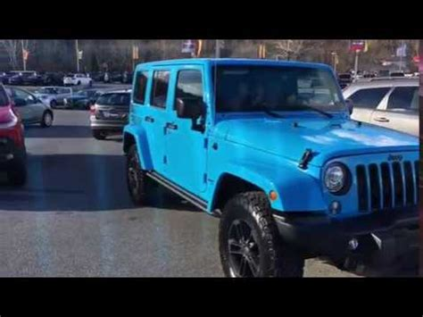 chief blue jeep 2017 jeep wrangler winter edition chief blue youtube
