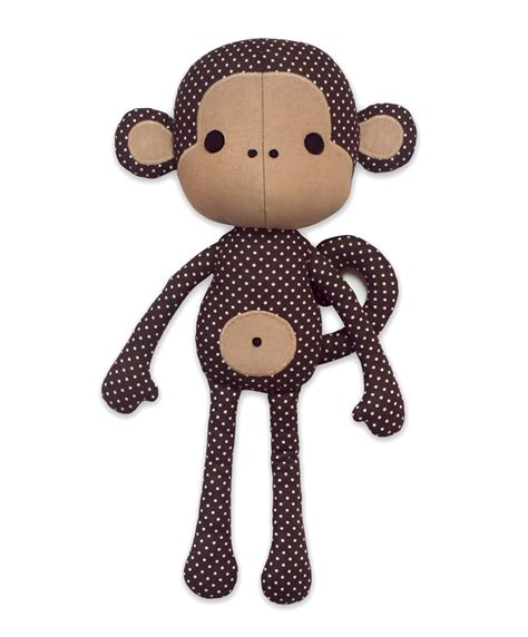 pattern sewing toys toy patterns by diy fluffies cute monkey doll pattern