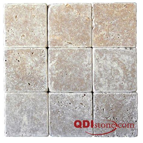 pictures of beige tile backsplash 4x4 beige tumbled qdi noce travertine tile qdisurfaces