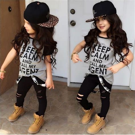 what style clothes are hip and trendy for a 60 year old t shirt tops pants casual stylish kids baby girls clothes