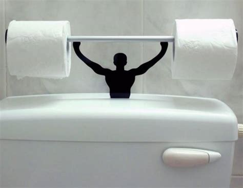 weight lifting toilet paper holder funny faxo
