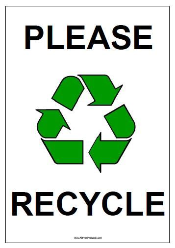 Recycle Sign Printable recycle sign free printable allfreeprintable
