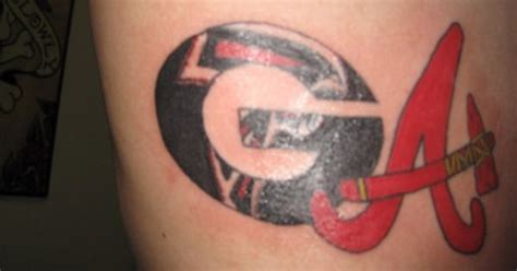 georgia bulldog tattoos atlanta falcons tattoos images search atlanta