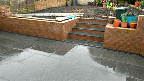 patio drainage products landscape gardener cardiff black granite patio and aco drainage build horizon wales