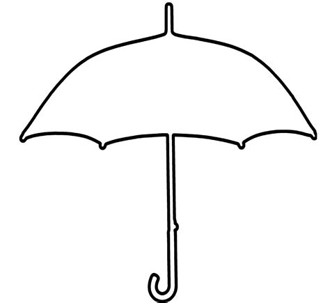 free coloring pages of clip of umbrella
