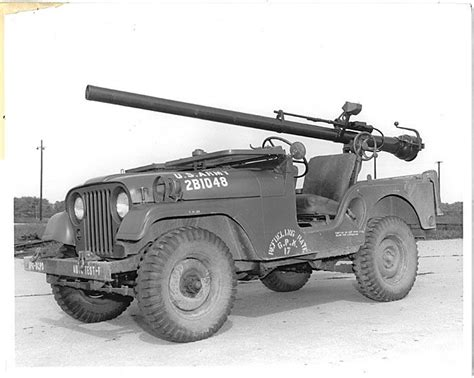 army jeep with gun jeep m 38a1 with recoilless rifle 106mm jeep m38a1