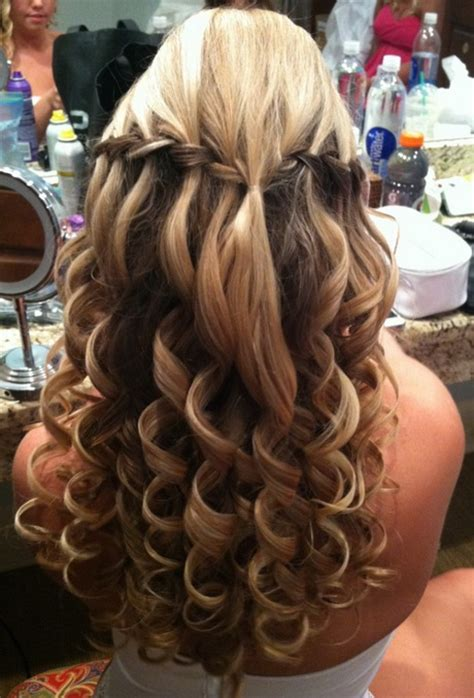 formal hairstyles with curls prom hairstyles with braids and curls