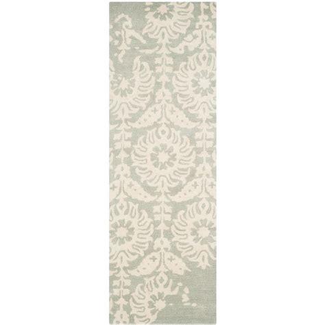 Pantofel Grey Ivory 2 safavieh light gray ivory 2 ft 3 in x 7 ft runner bel125b 27 the home depot