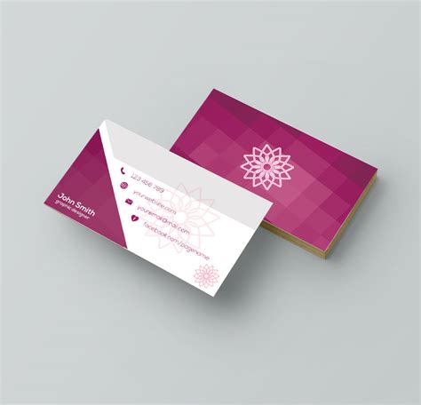 business card template design graphic designer aya