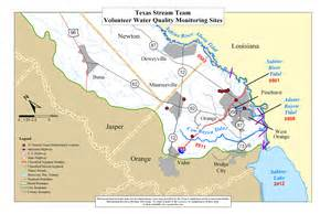 sabine river map orange county the center for water and the