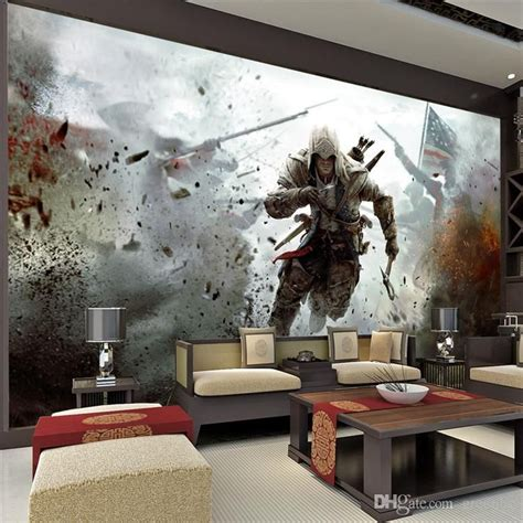 free shipping wallpaper wallpaper bedroom wall furniture game view wall mural assassins creed photo wallpaper hd