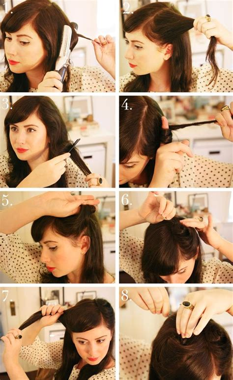 1940s womens hairstyle tutorials 40s style hair tutorial hairstylegalleries com
